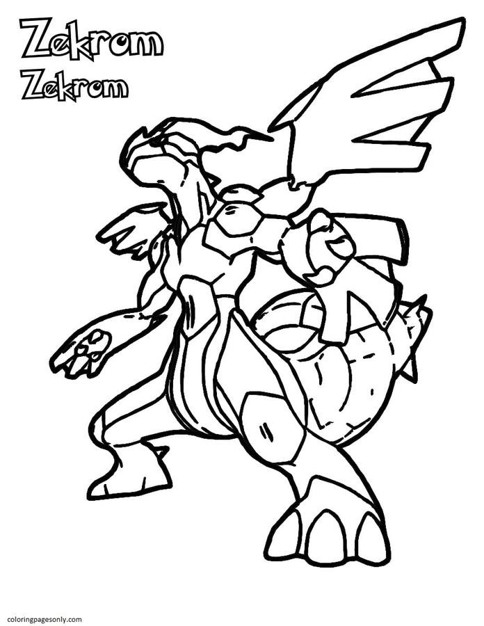 Kyurem Pokemon 3 Coloring Page