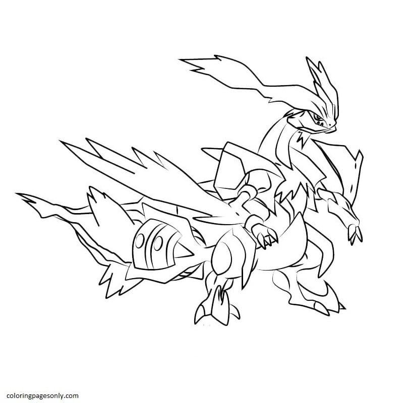 Kyurem Pokemon 4 Coloring Page