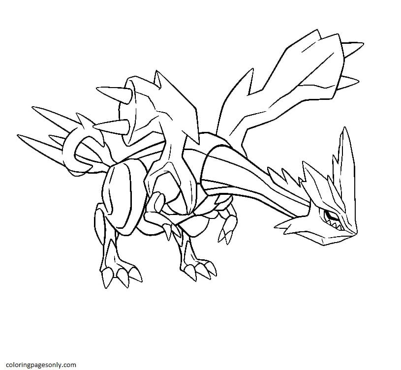 Kyurem Pokemon 5 Coloring Page