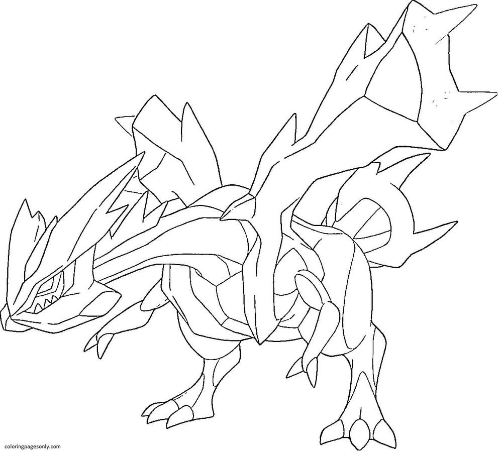 Kyurem Pokemon 6 Coloring Page