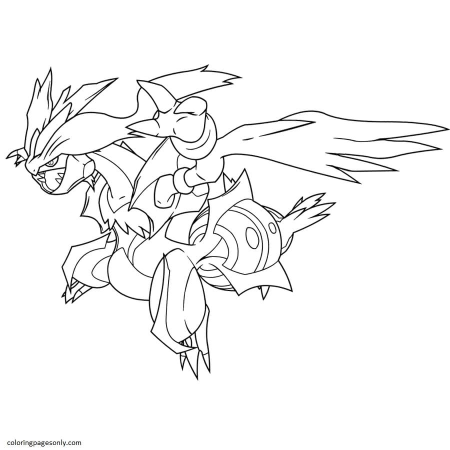 Kyurem Pokemon 7 Coloring Page
