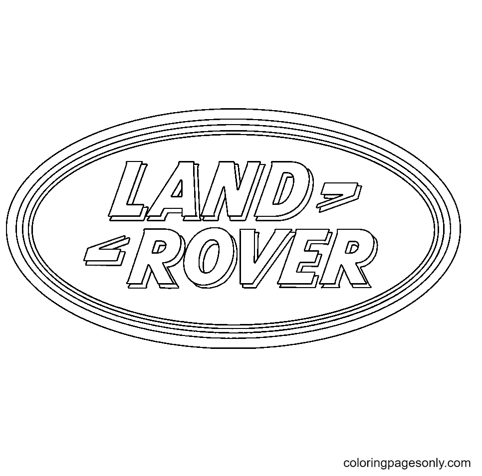 Land Rover logo Coloring Page