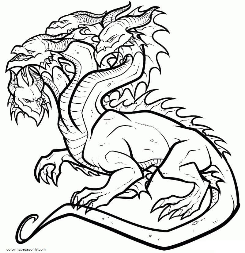 Legend Hydra Coloring Page
