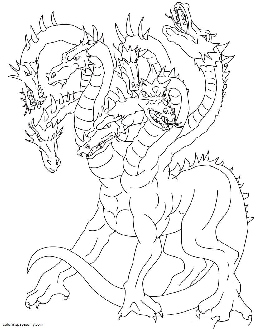 Legend Monster Hydra Coloring Page