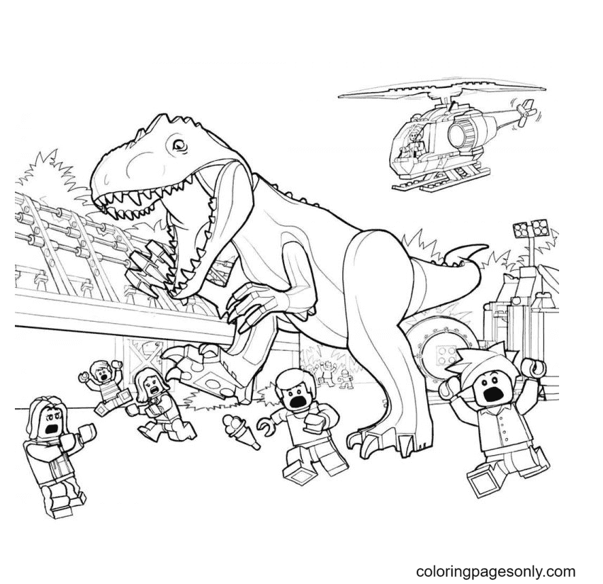 Lego Jurassic World Printable Coloring Page