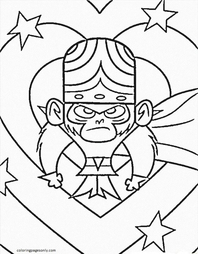 Lego Power Puff Girls Coloring Page