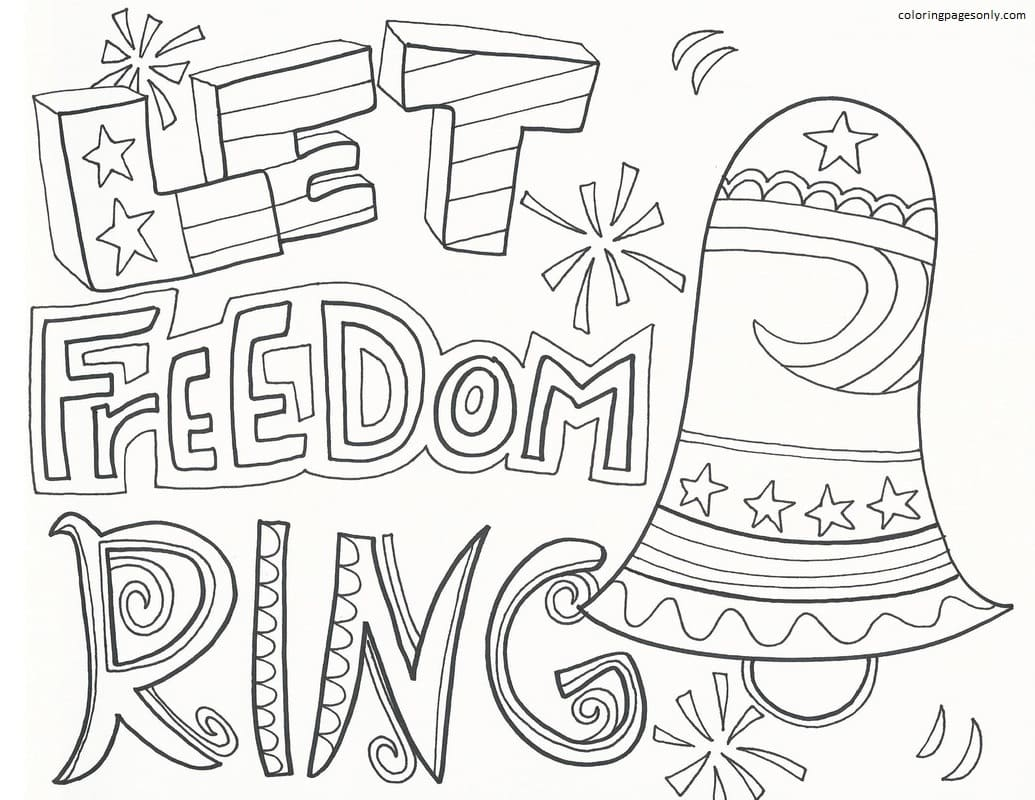 Let Freedom Ring Coloring Page