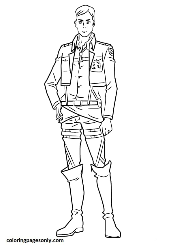 Levi full body Coloring Page