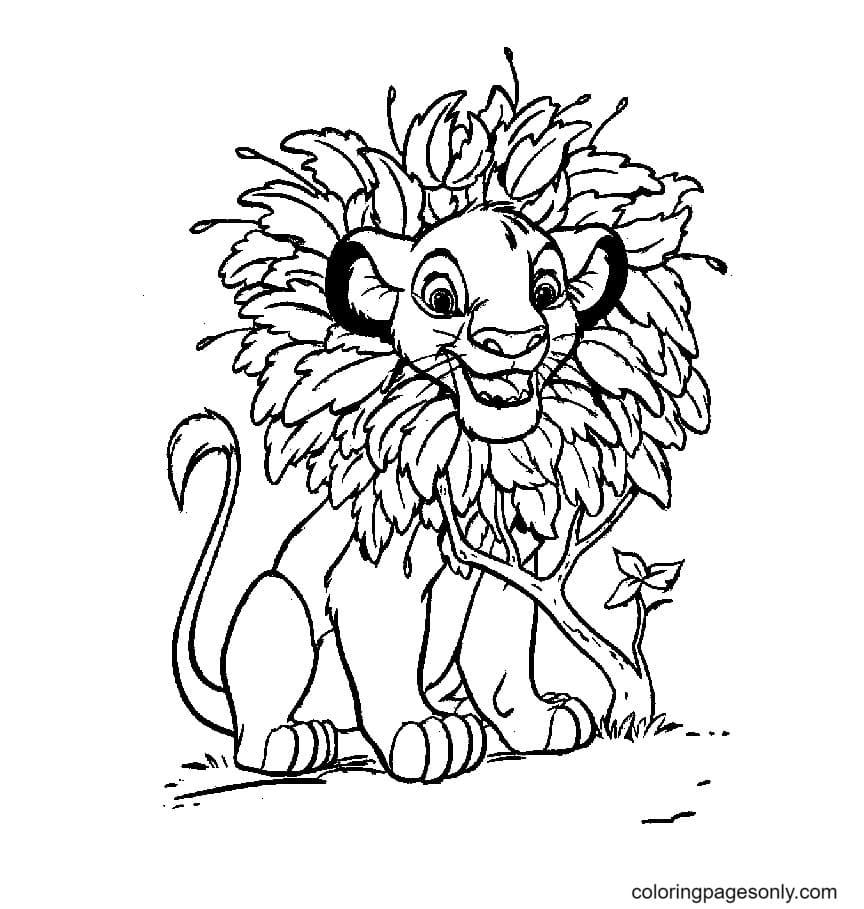 Lion King Simba Coloring Page