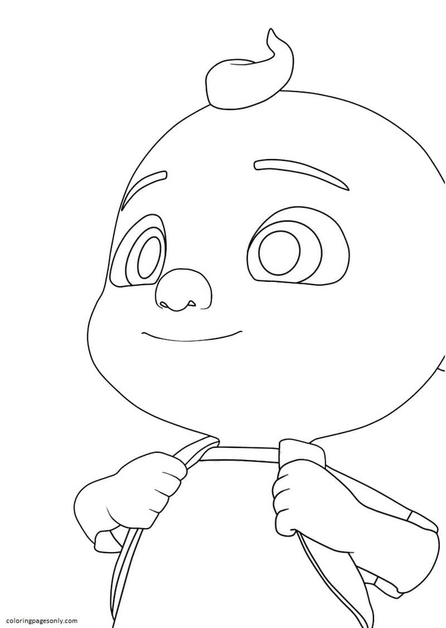 Little Johnny Goes To School Coloring Page