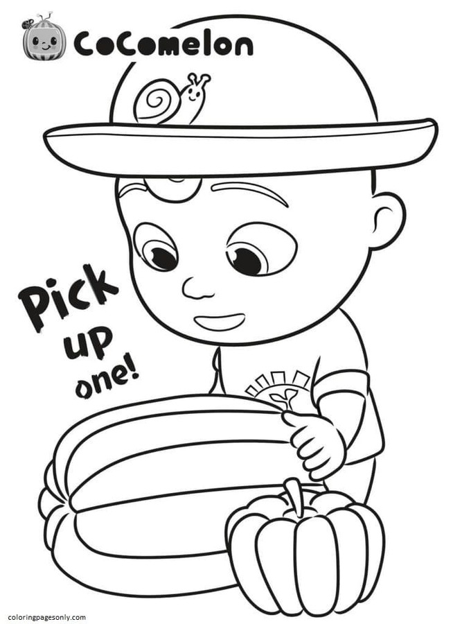 Little Johnny and Pumpkin Coloring Pages