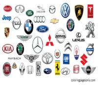 Car Logo Coloring Page