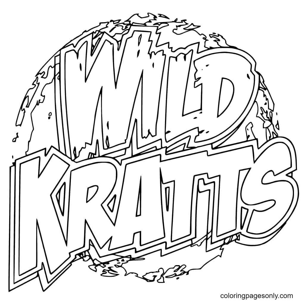 Logo Wild Kratts Coloring Page