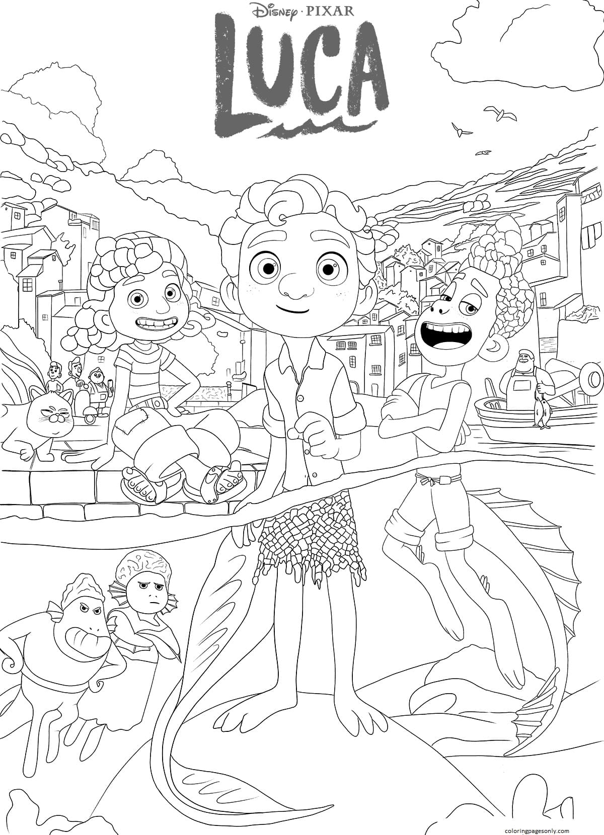 Luca 1 Coloring Page