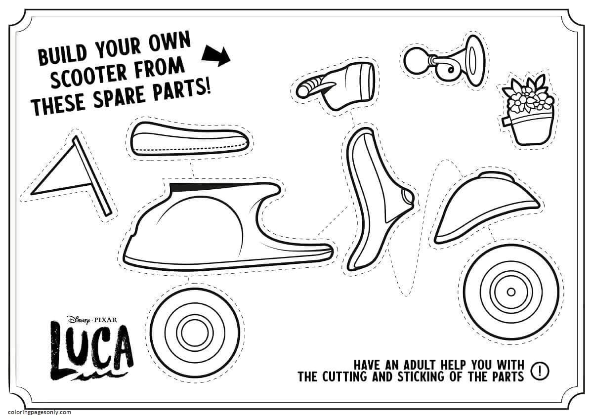 Luca Activity Sheet Coloring Page