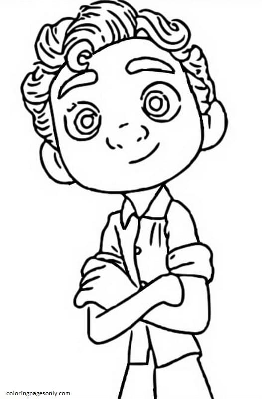 Luca Paguro 1 Coloring Page