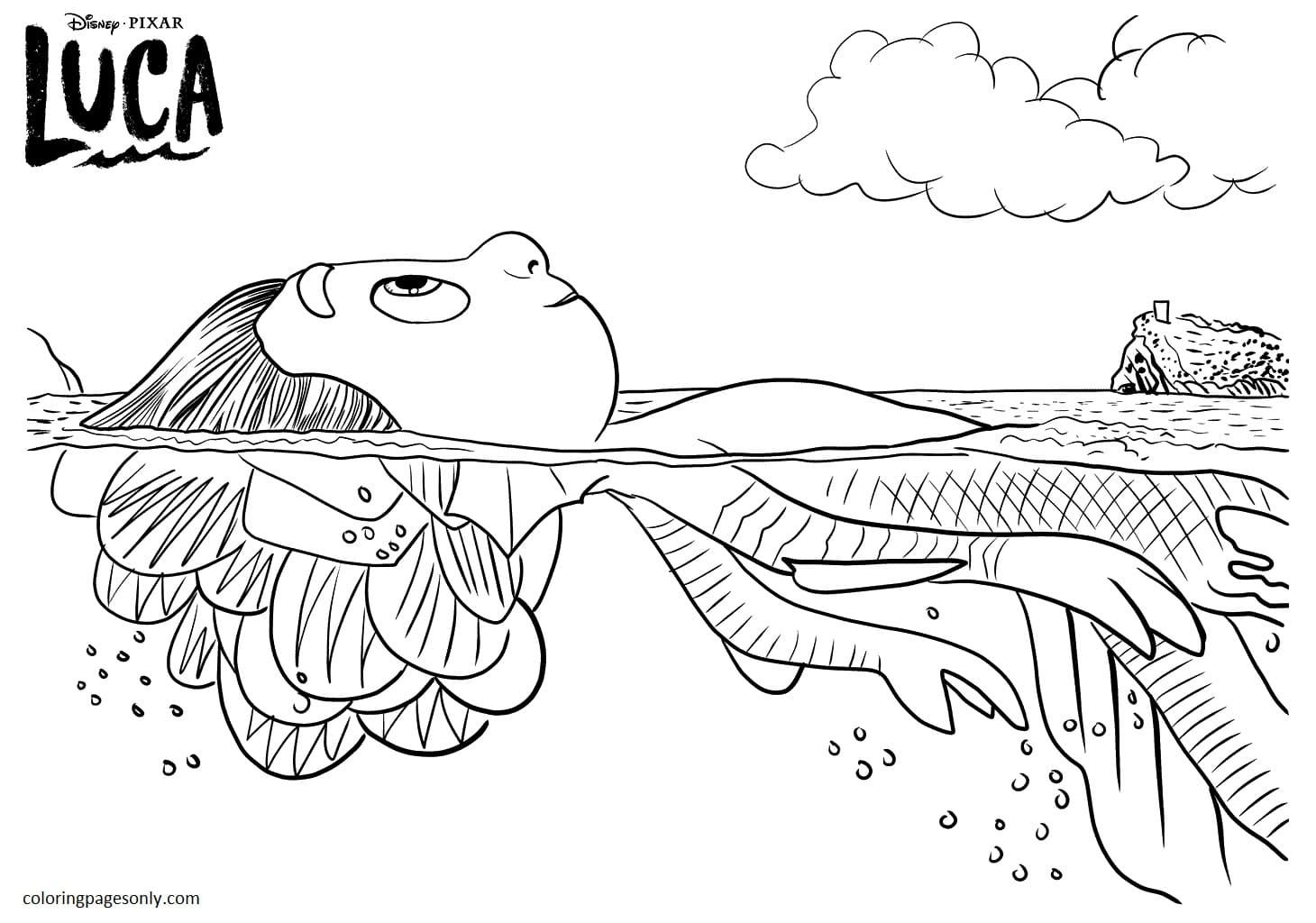 Luca Poster Coloring Page
