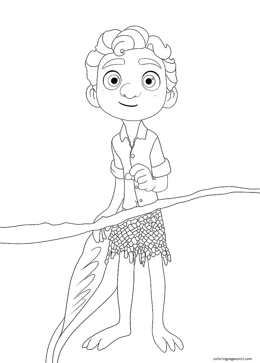 Luca from Disney Luca Coloring Page
