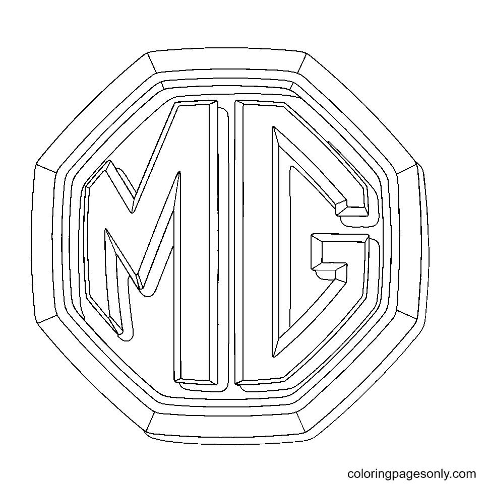 MG Logo Coloring Page