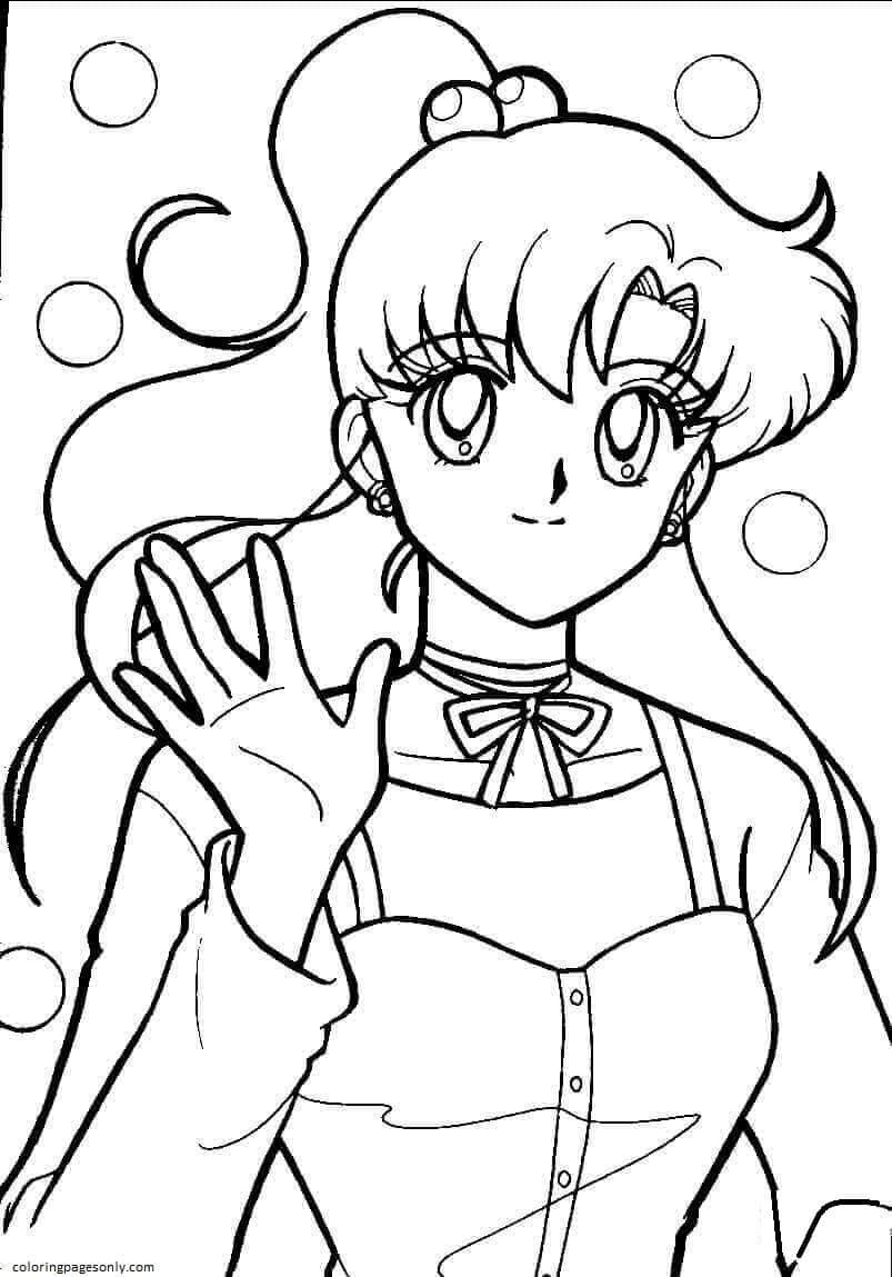 Makoto Kino Coloring Page