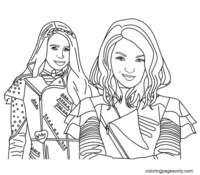 Mal and Evie Coloring Pages