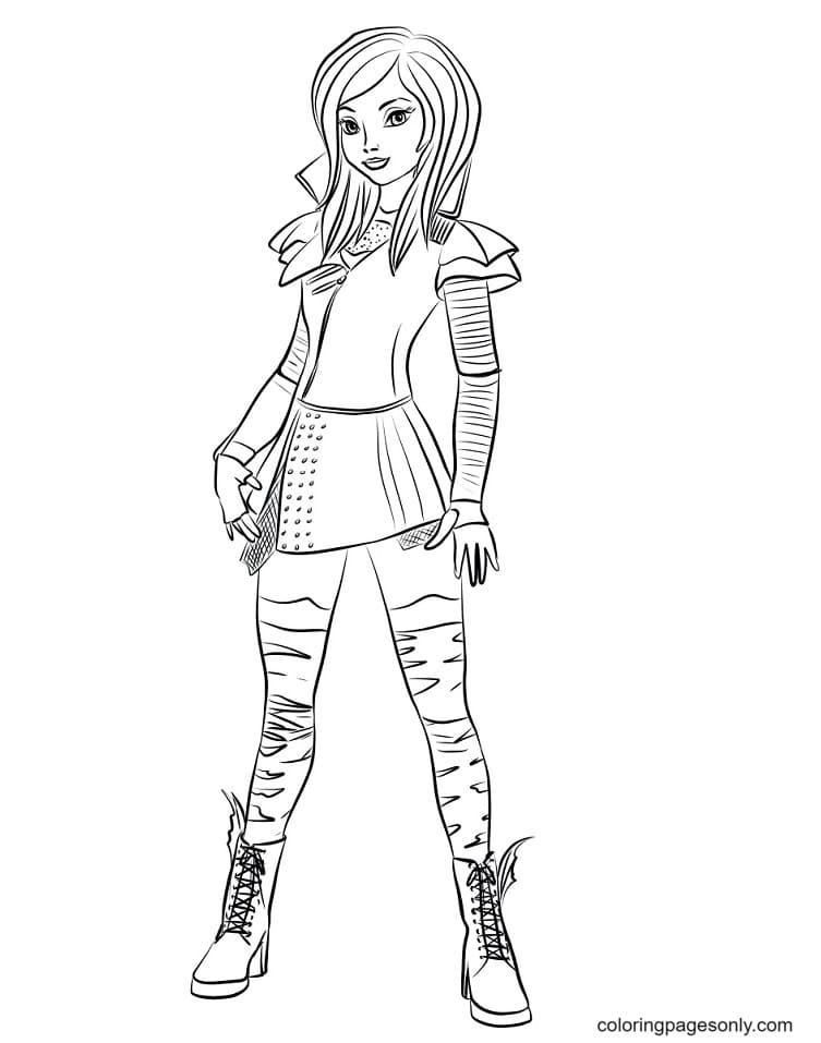Mal from Descendants Coloring Page