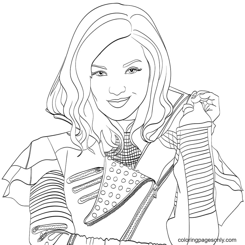 Mal in Descendents Coloring Page