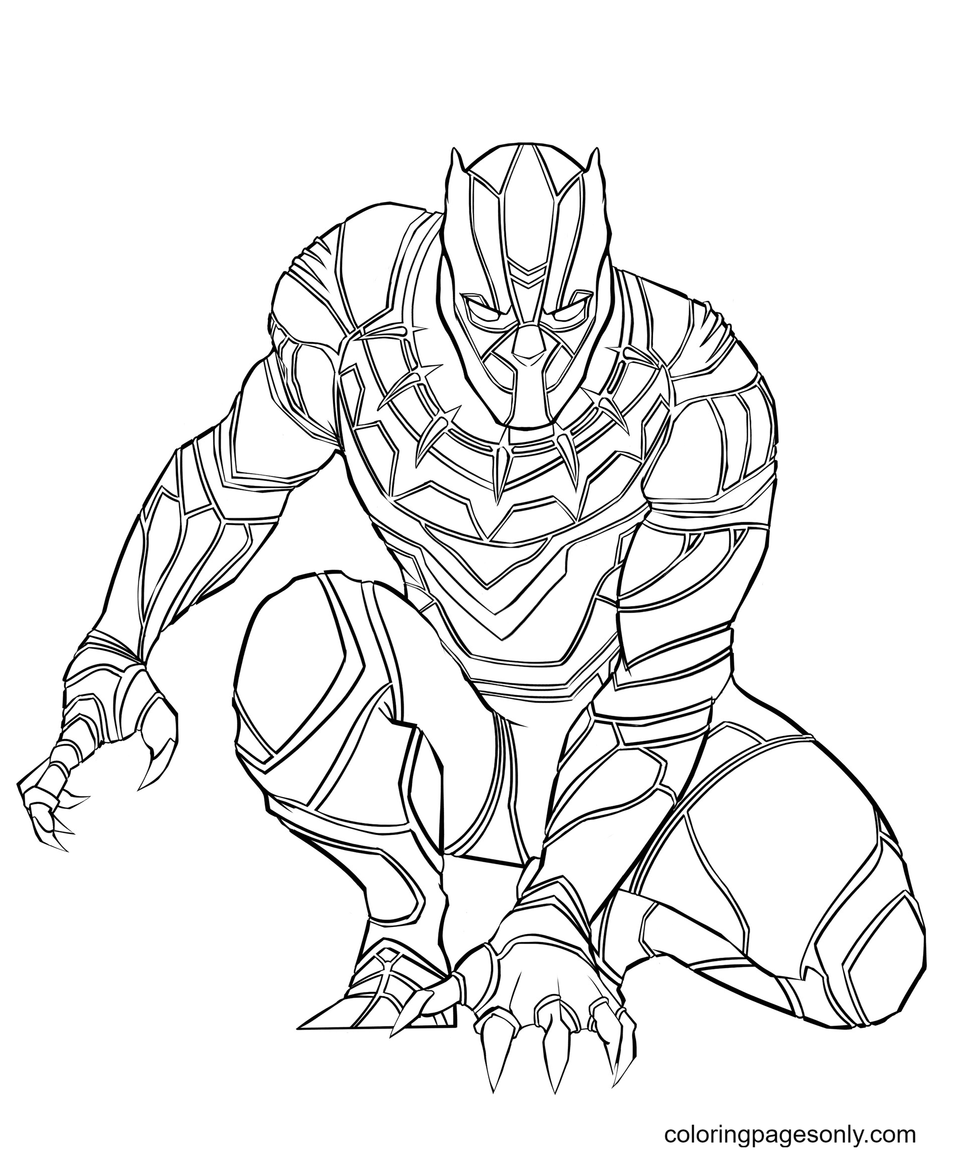 Marvel Black Panther Coloring Page