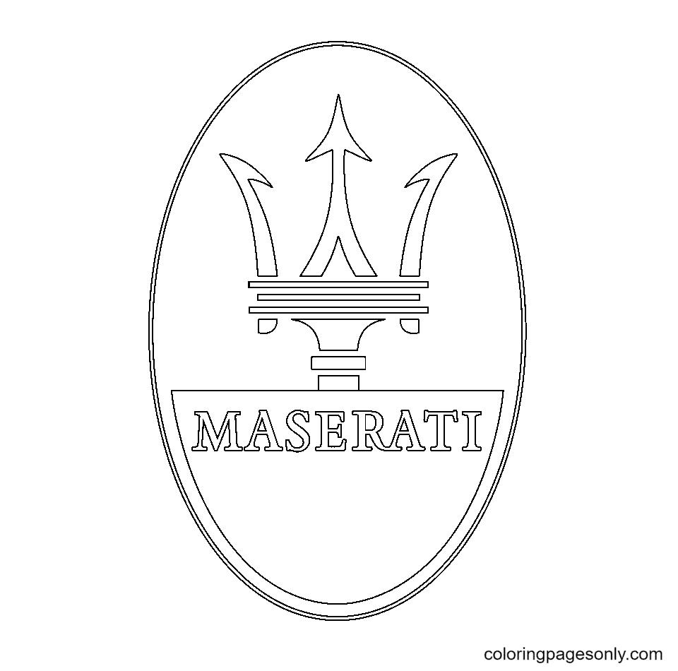 Maserati Logo Coloring Page