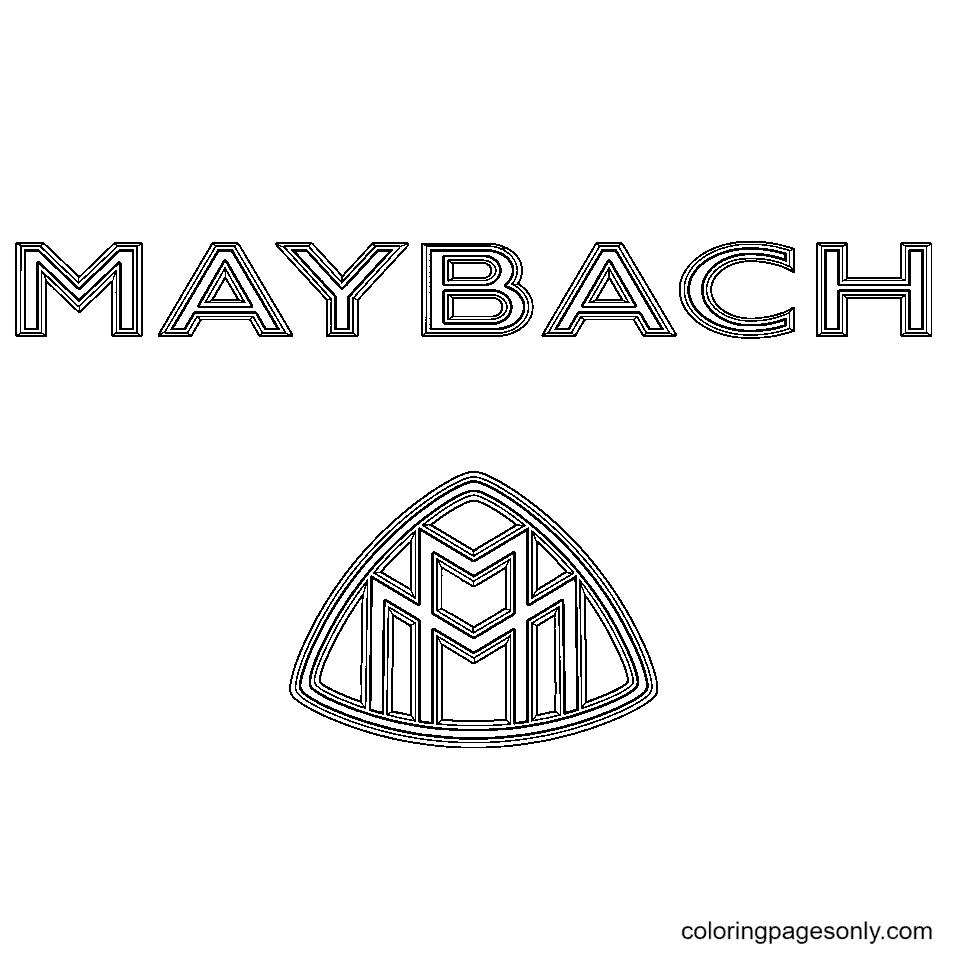 Maybach Logo Coloring Page