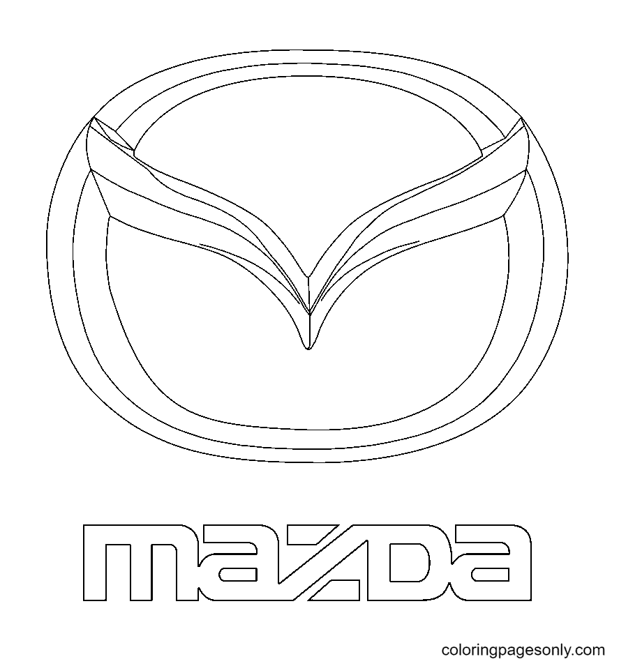 Mazda Logo Coloring Page