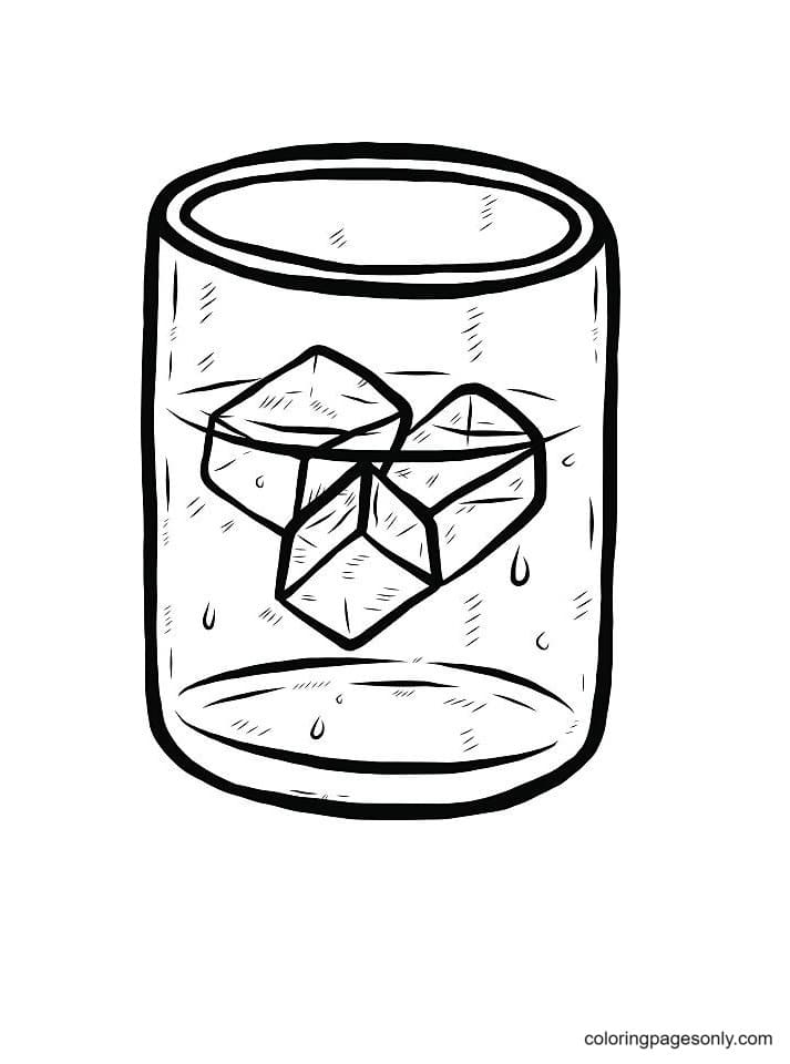 Melted Ice Cube Coloring Page