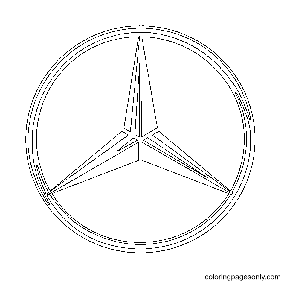 Mercedes-Benz Logo Coloring Page