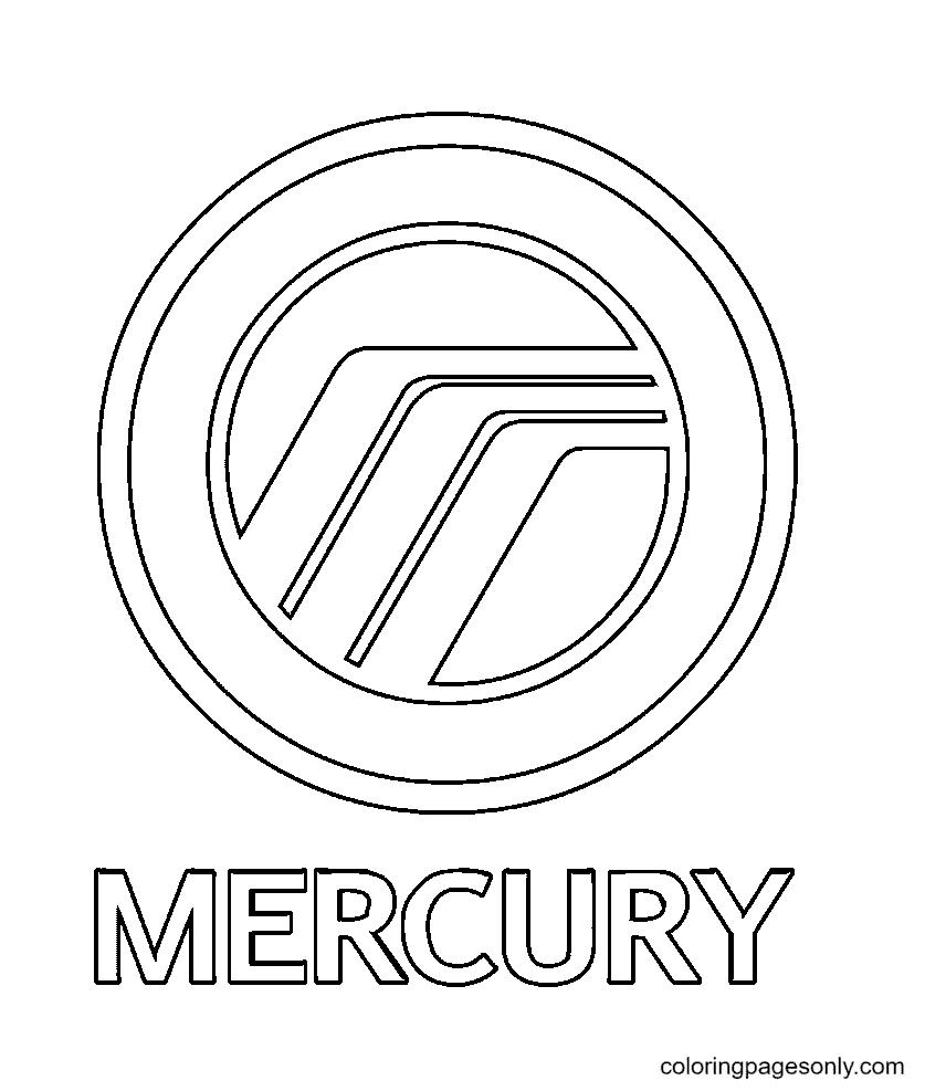 Mercury Logo Coloring Page