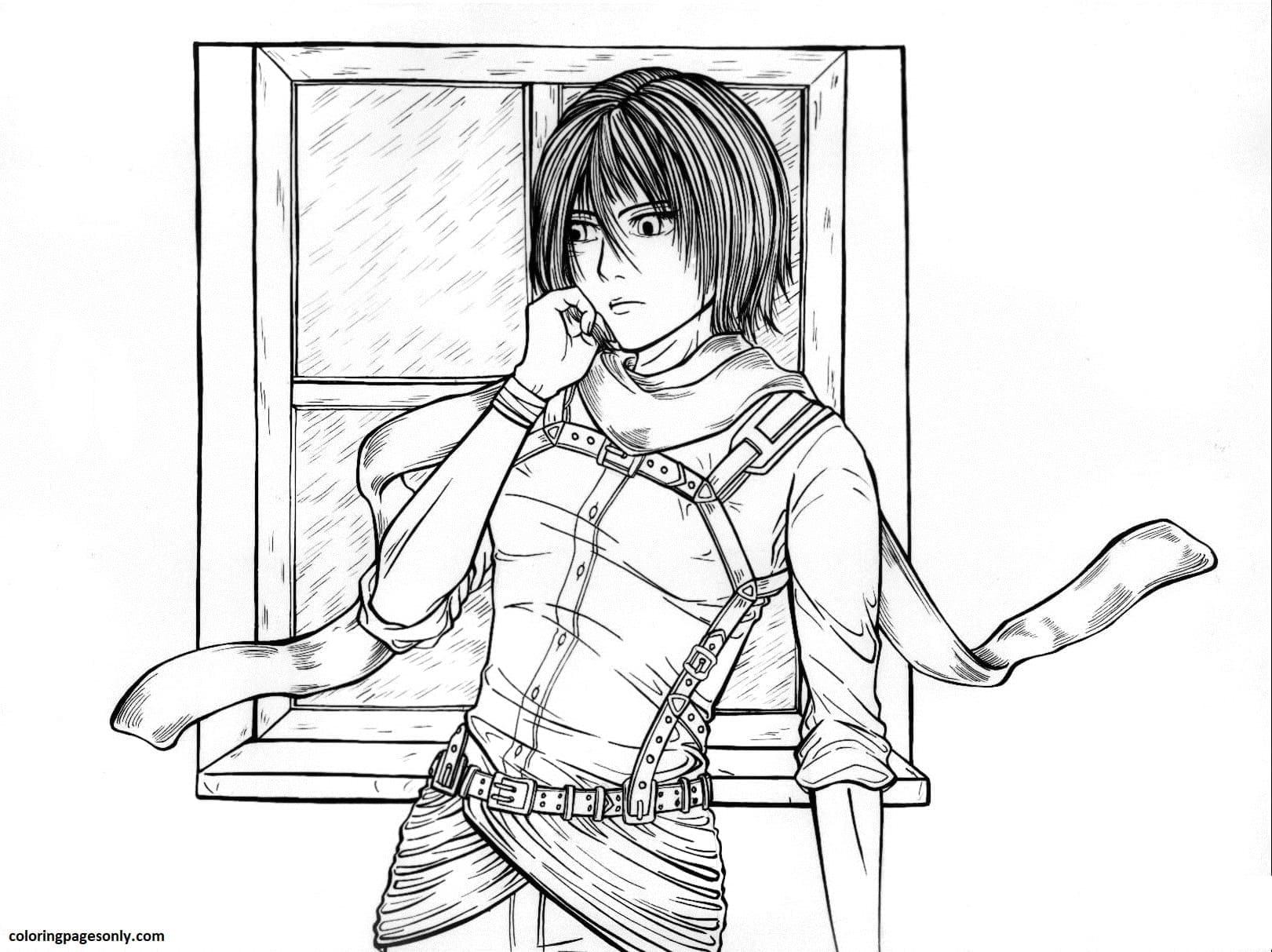 Mikasa Coloring Page