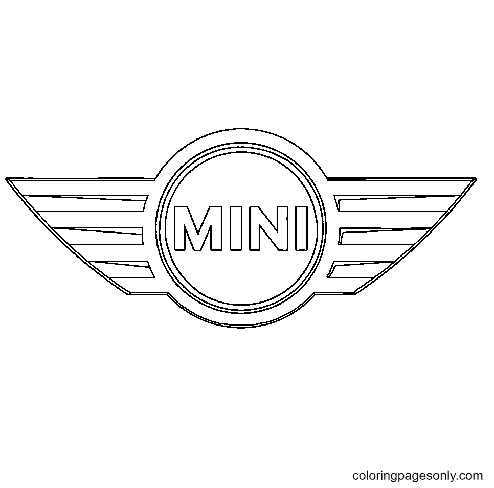 Mini Logo Coloring Page