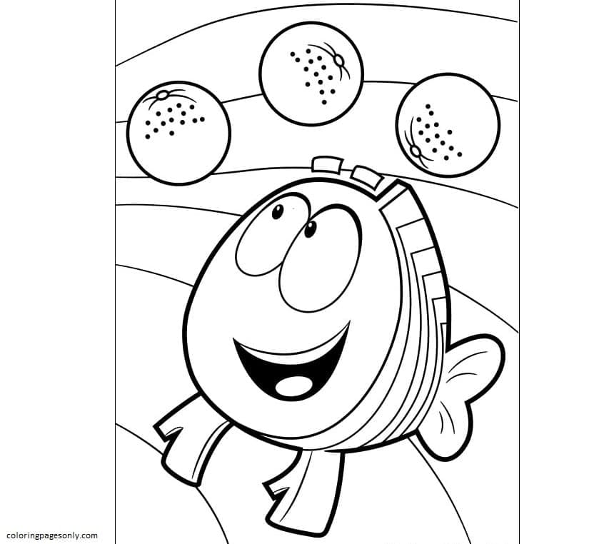 Mr Grouper Bubble Guppies Coloring Page