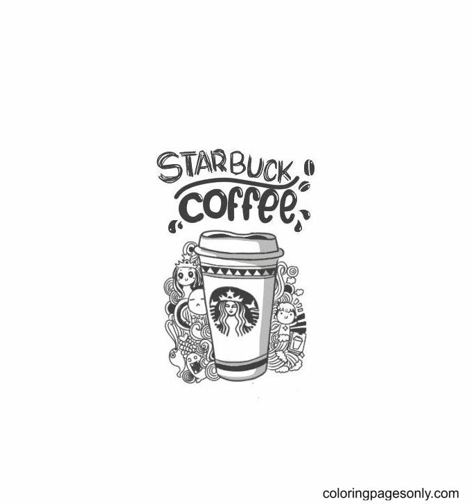 Mug Starbucks Coloring Page