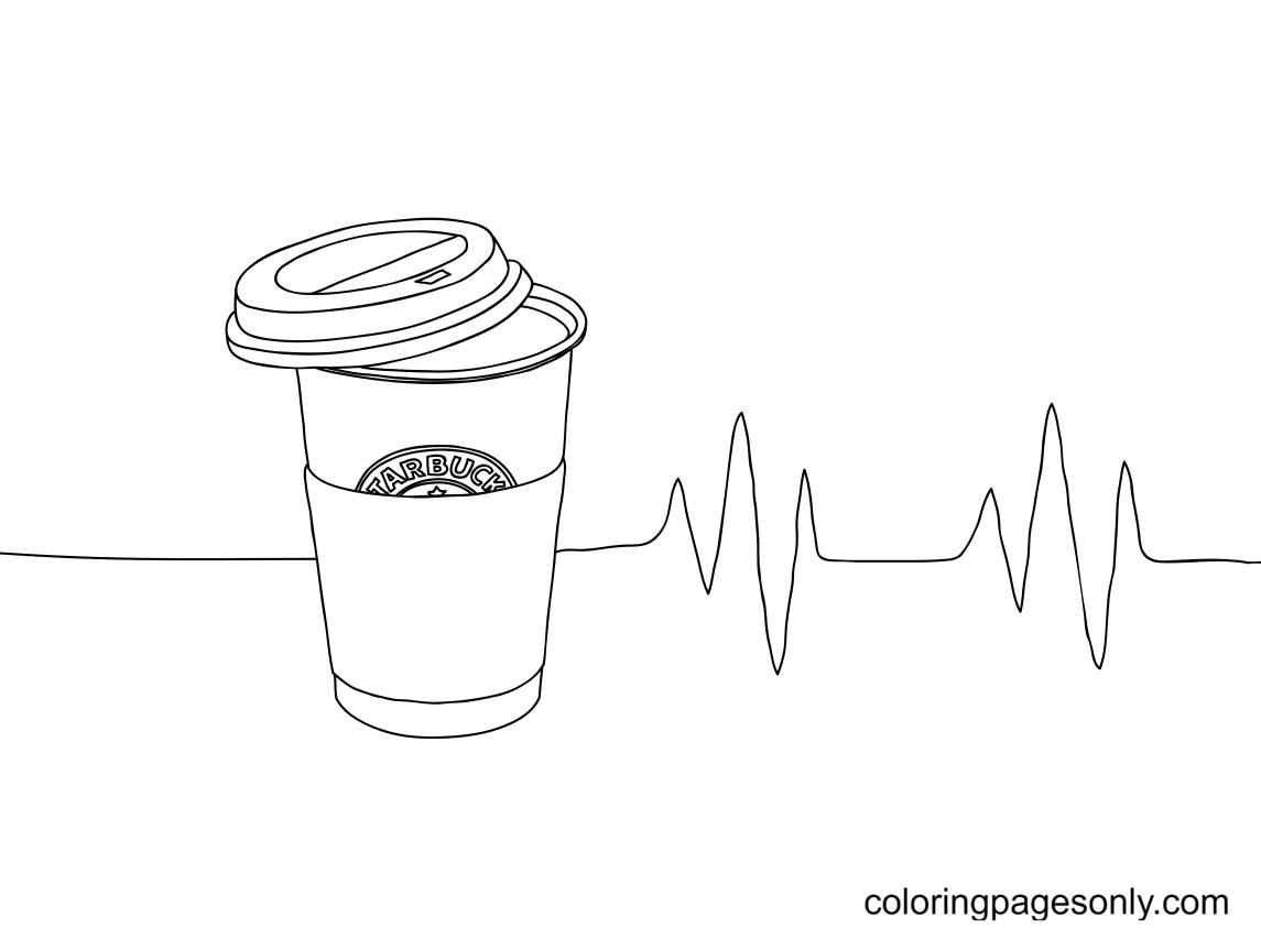 Mug coffee starbucks Coloring Page
