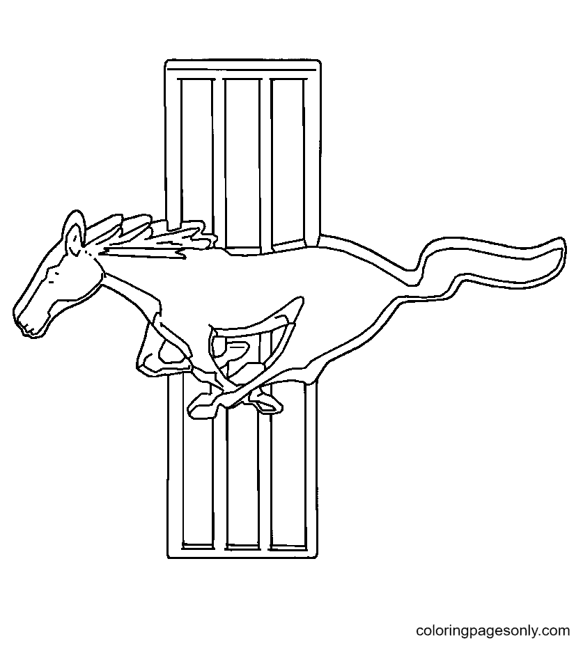 Mustang Logo Coloring Page