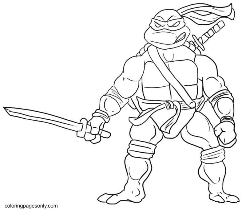Mutant Ninja Turtle Printable Coloring Page