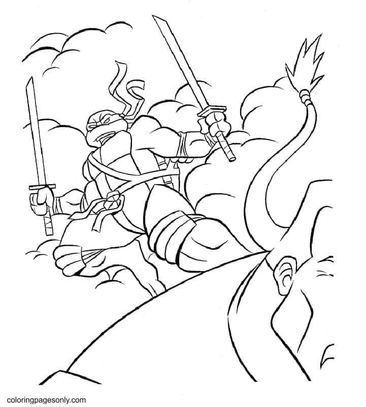 Mutant Ninja Turtles 1 Coloring Page