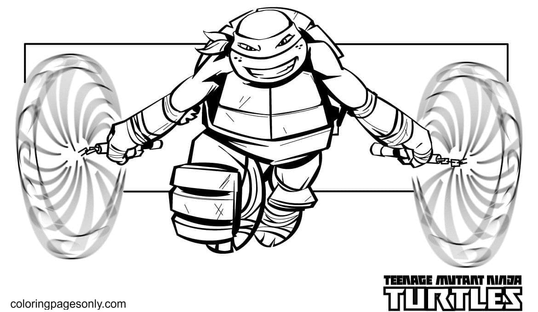 Mutant Ninja Turtles 2 Coloring Page
