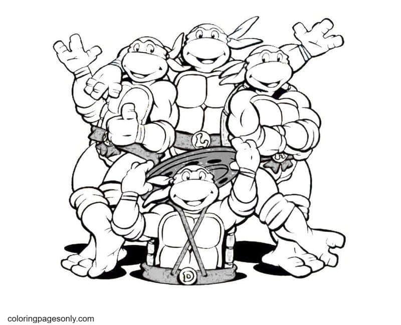 Mutant Ninja Turtles0 Coloring Page