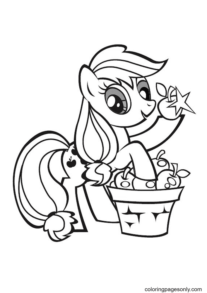 My Little Pony Applejack Stand Coloring Page