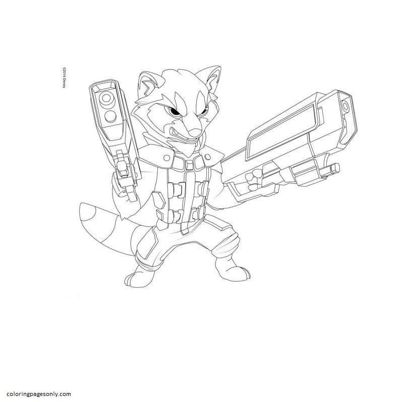 Nerf Gun 2 Coloring Page