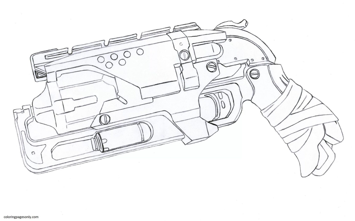 Nerf Springer Coloring Page