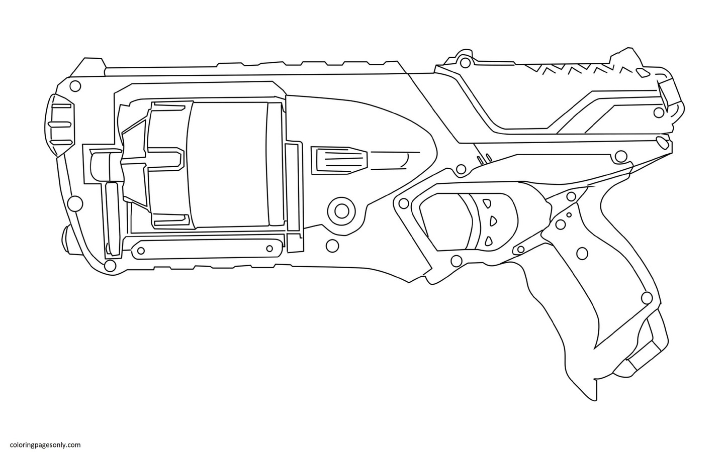 Nerf Strongarm Coloring Page