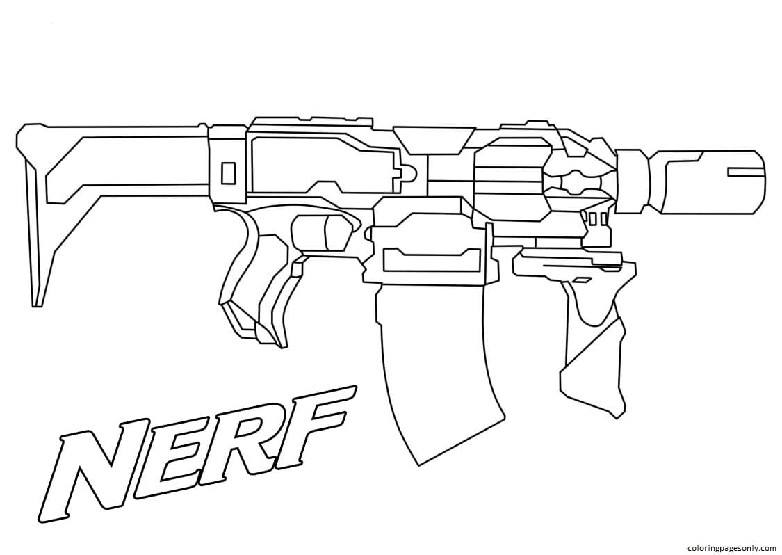 Nerf Blaster 1 Coloring Page