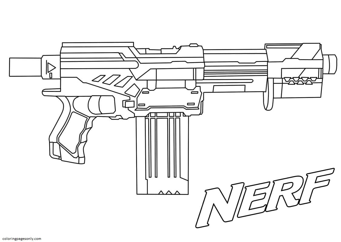 Nerf Blaster Coloring Page